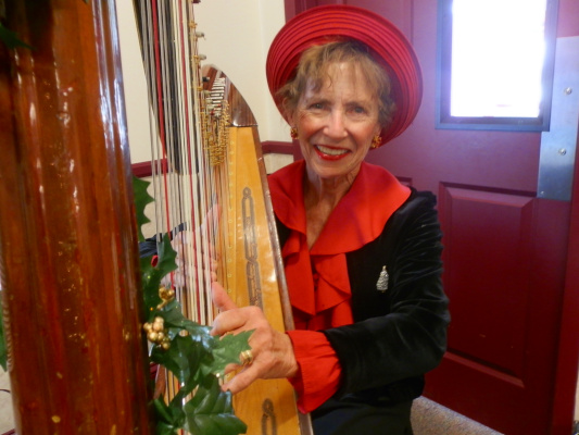 Mary Ellen Holmes at Tea in Timnath, Colorado for Christmas